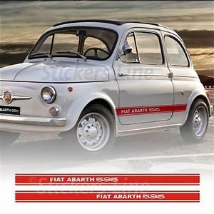 Fasce Adesive Fiat 500 595 Abarth D U0026 39 Epoca Strisce Continue