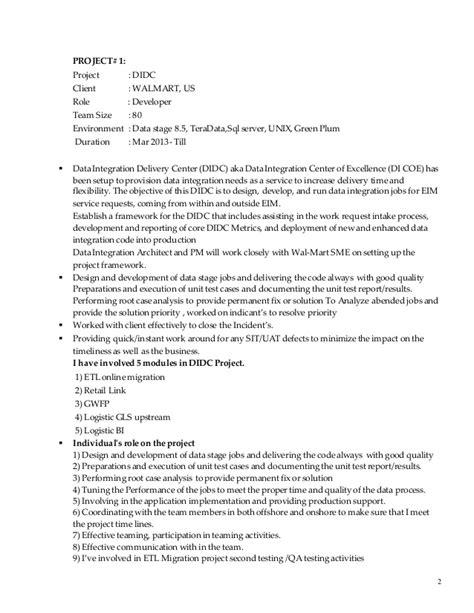 Datastage Resume Format by Datastage Resume