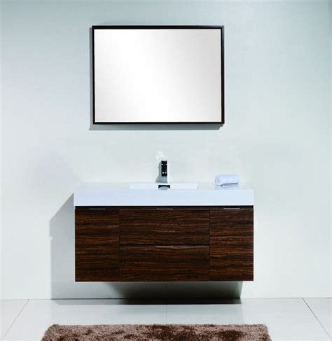 Modern Bathroom Vanities Canada by Bliss 48 Quot Walnut Wall Mount Modern Bathroom Vanity The