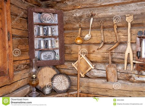cabin  home  tools   wall royalty  stock photo image