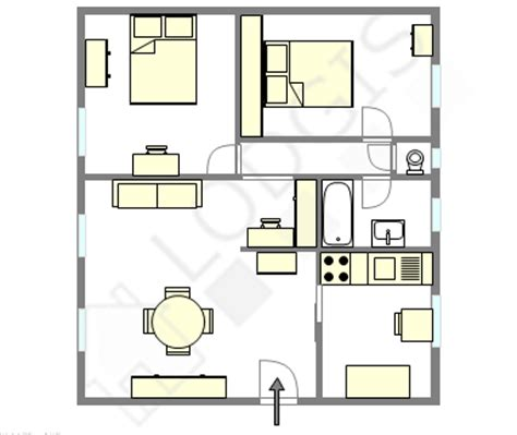 plan appartement 2 chambres 50 plans 3d d 39 appartement avec 2 chambres parfait et