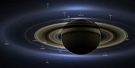 Cassini Reveals Saturn Stunning Mile Wide