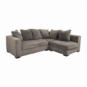 53 off west elm west elm modular gray sectional sofas for Gray sectional sofa west elm