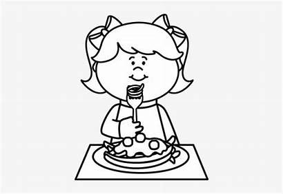 Eating Spaghetti Clipart Child Coloring Clip Kid
