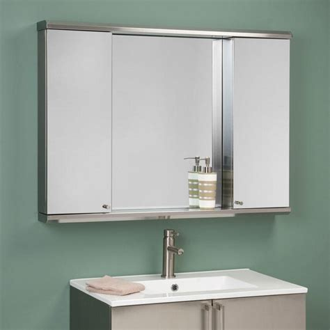 bathroom wall medicine cabinets rectangular bathroom mirror in the middle twin stainless