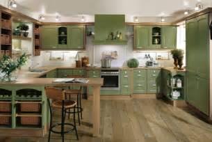 Interior Kitchen Designs Green Kitchen Interior Design Stylehomes Net