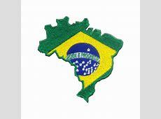 Bordado Mapa Bandeira do Brasil Militar Brasil artigos
