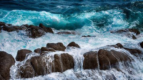 wallpaper  sea rocks spray surf foam