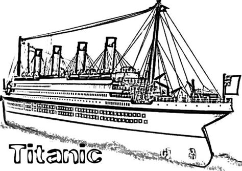 Titanic Kleurplaat by Coloring Pages Of The Titanic
