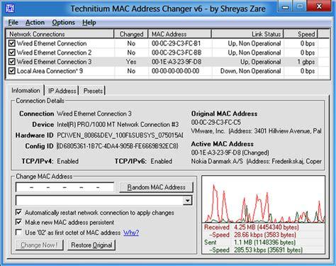 Amac Address Change technitium mac address changer 6 0 7 networking tools