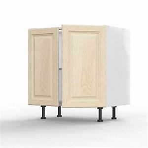 Meuble Bas 2 Portes : meuble bas 2 portes 80cm caisson gris ~ Dallasstarsshop.com Idées de Décoration