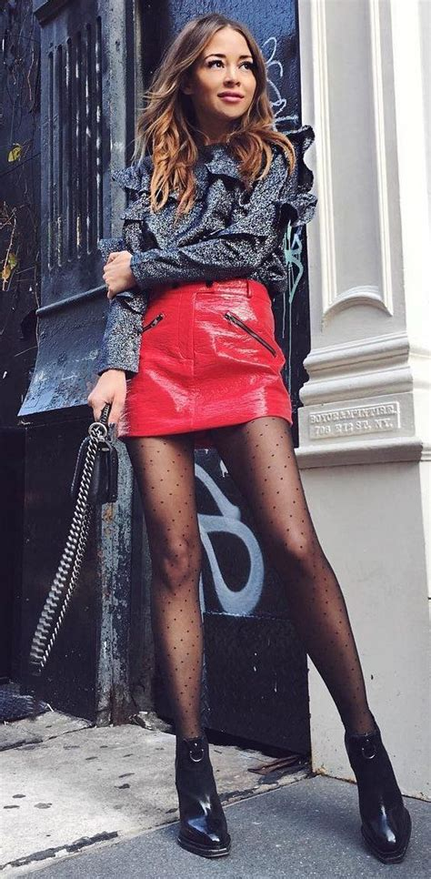 The 25+ best Red leather skirt ideas on Pinterest | Green leather skirt Clothes from the 80s ...