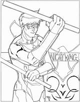 Coloring Nightwing Pages Printable Robin Batman Sheets Getcolorings Hood Drawing Template Educativeprintable Sketch sketch template