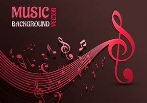 Beautiful Music Notes Vector Background - Download Free ...