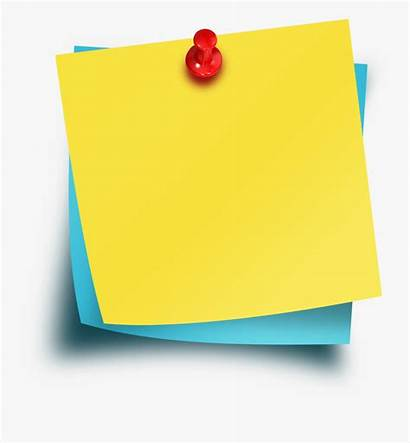 Sticky Notes Template Thumbtack Psd Clipart Transparent