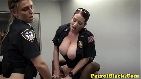 Black Thug Cock Raided By Mean Femdom Cops