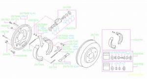 2000 Subaru Forester Drum Brake Adjuster  Right  Rear   W