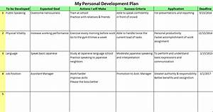 personal development plan example With executive development plan template