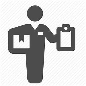 Clipboard, courier, delivery, delivery man, logistics ...