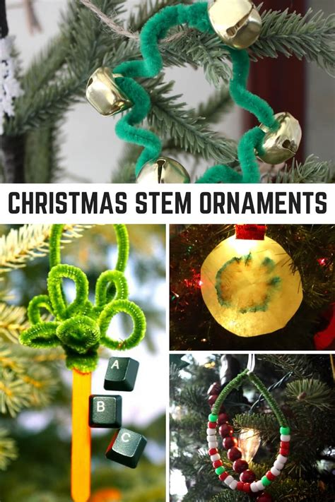 stem inspired christmas science ornaments for kids to make