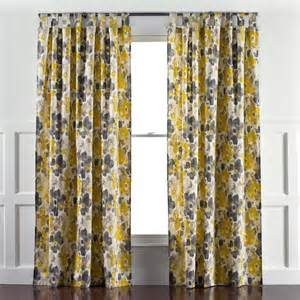 yellow and gray panel curtains linen cotton grommet window panel desert marigold west elm