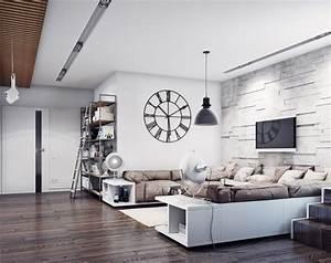 Steinwand Wohnzimmer Ideen : ideen zur wohnzimmereinrichtung 29 moderne beispiele ~ Sanjose-hotels-ca.com Haus und Dekorationen