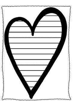 heart writing template  wonderfulworksheets tpt