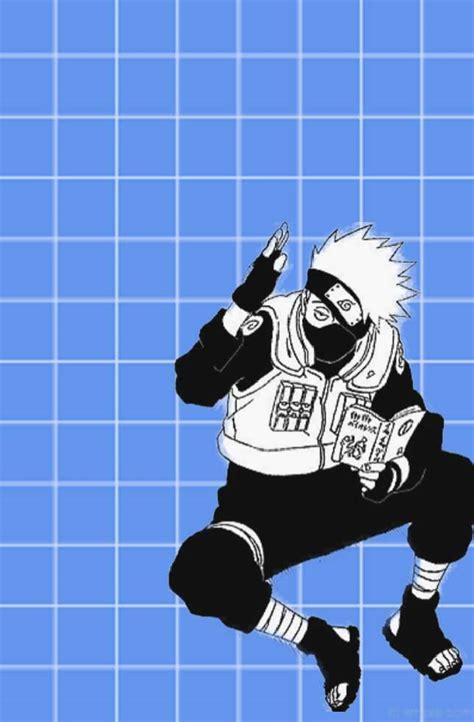 blue anime aesthetic kakashi