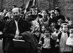 Janusz Korczak and his orphans, Warsaw Ghetto, about 1942 ...