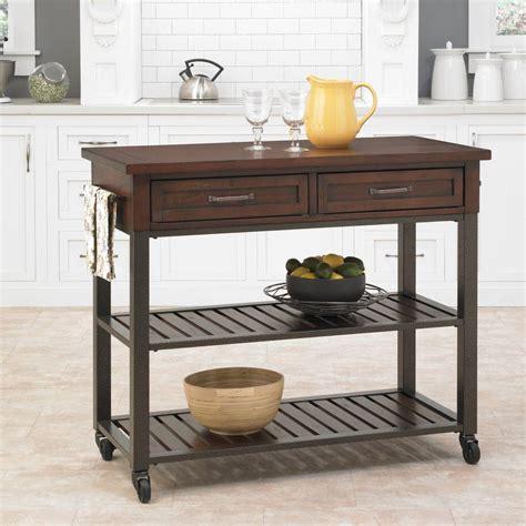 espresso kitchen cart cabin creek chestnut kitchen cart with storage 5411 952 3594
