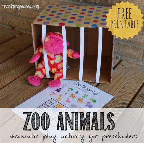 zoo animals dramatic play activity teaching 229 | Zoo Dramatic Play Activity