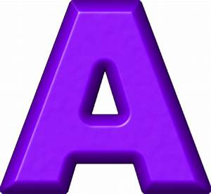 Presentation Alphabets: Purple Refrigerator Magnet A
