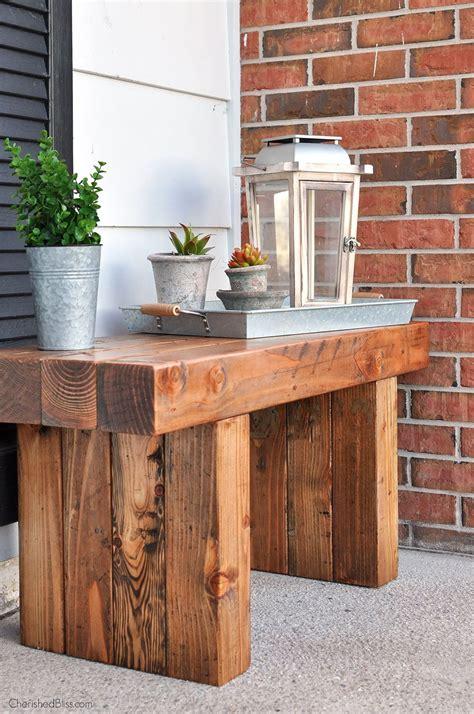 diy outdoor table bench front porch bench  porch bench