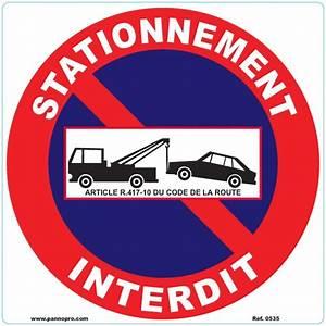 Panneau Interdit De Stationner : panneau interdiction de stationner a imprimer ~ Dailycaller-alerts.com Idées de Décoration