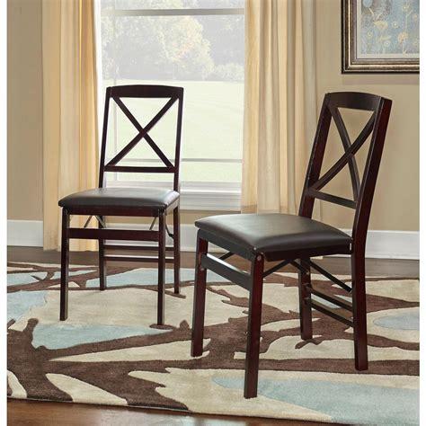 Linon Home Decor Triena Espresso Folding Chair01826esp02