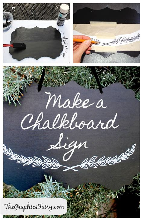 diy tutorial painted chalkboard sign  graphics fairy