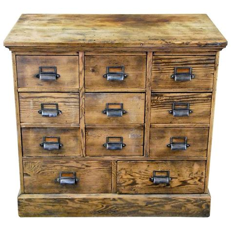 Wooden Apothecary Cabinet by 1910 Wooden Multi Drawer Apothecary Cabinet At 1stdibs