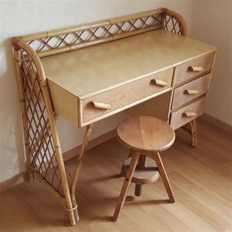 bureau bambou broc co meubles vintage des ées 1950 1960 et 1970