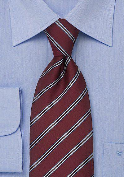 mens tie  dark burgundy  light blue stripes bows