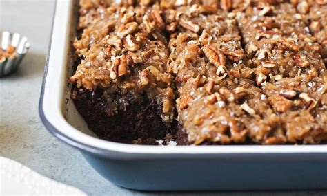 german chocolate sheet cake  coconut pecan frosting