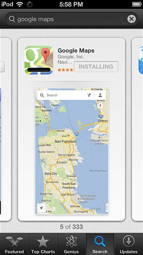 maps app for iphone iphone contacts official maps app out for iphone