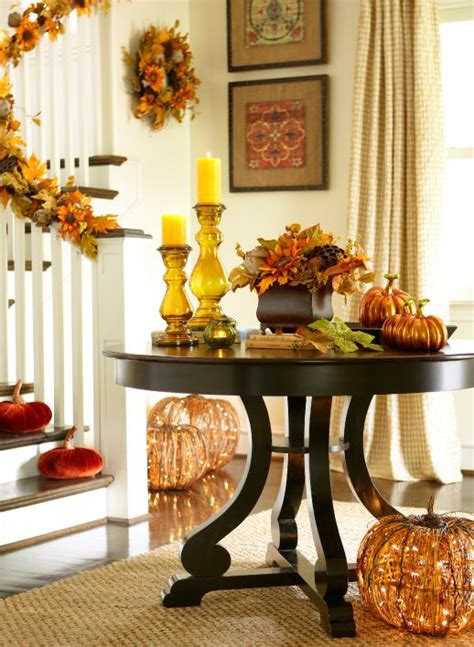 fall dining table decorations rubbed black round dining table foyer tables pumpkins