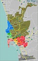 Map Defining Major Districts of San Diego