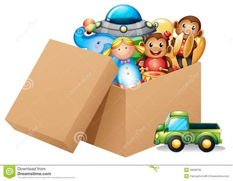 A Box Full Of Different Toys Royalty Free Stock Photo
