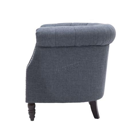 foxhunter linen fabric tub chair armchair dining living
