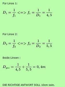 Stationäre Punkte Berechnen 2 Variablen : brennweite zweier kombinierter linsen bestimmen nanolounge ~ Themetempest.com Abrechnung