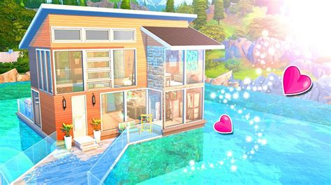 The Sims 4 Speed Build Love Birds Lake House Youtube