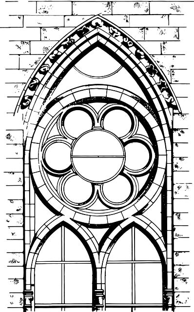 drawing cathedral architecture  vector graphic