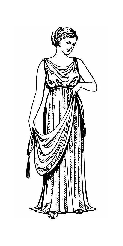 Ancient Greek Clothing Pixabay Robe Woman Myth