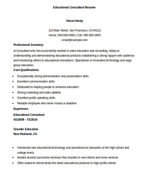 Education Format Resume by Education Resume Template 9 Free Sle Exle